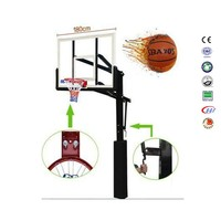 Professional basketball hoop inground basketball system