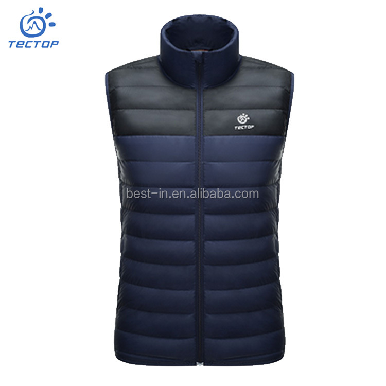 Mens Duck Down Vest Winter Clothing Camping Windproof