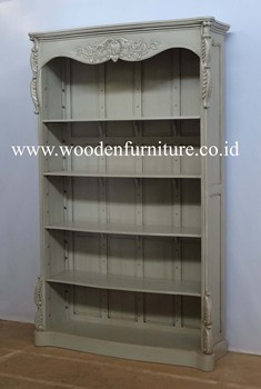 Wooden Bookcase French Style Book Shelves Clic Display Cabinet Antique Reproduction Home Furniture European Office