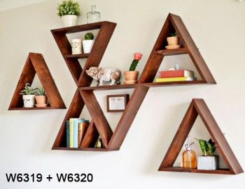 Modular Wooden Wall Decor Shelves
