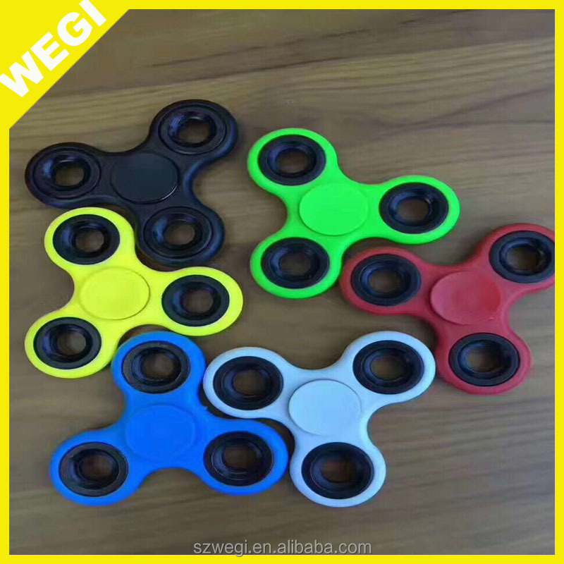 7 Colors Ceramics Beads Tri-Spinner Plastic EDC Hand Spinner For Autism and ADHD spinner fidget toy Long Time Anti Stress Toys