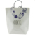 FSC Blue in White Luxury Custom Paper Bag For Garments