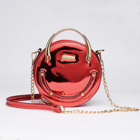 New Fashion Laser Round Shaped Chain Shoulder Crossbody Bag Evening Mini Messenger Bag Women Handbag