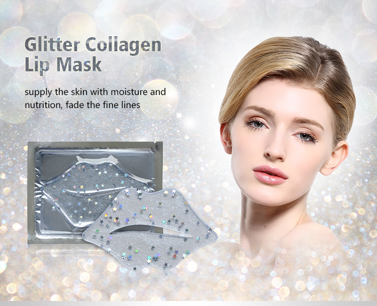 MOND'SUB 2019 New Product Glitter Collagen Patch Star Lip Mask Sheet