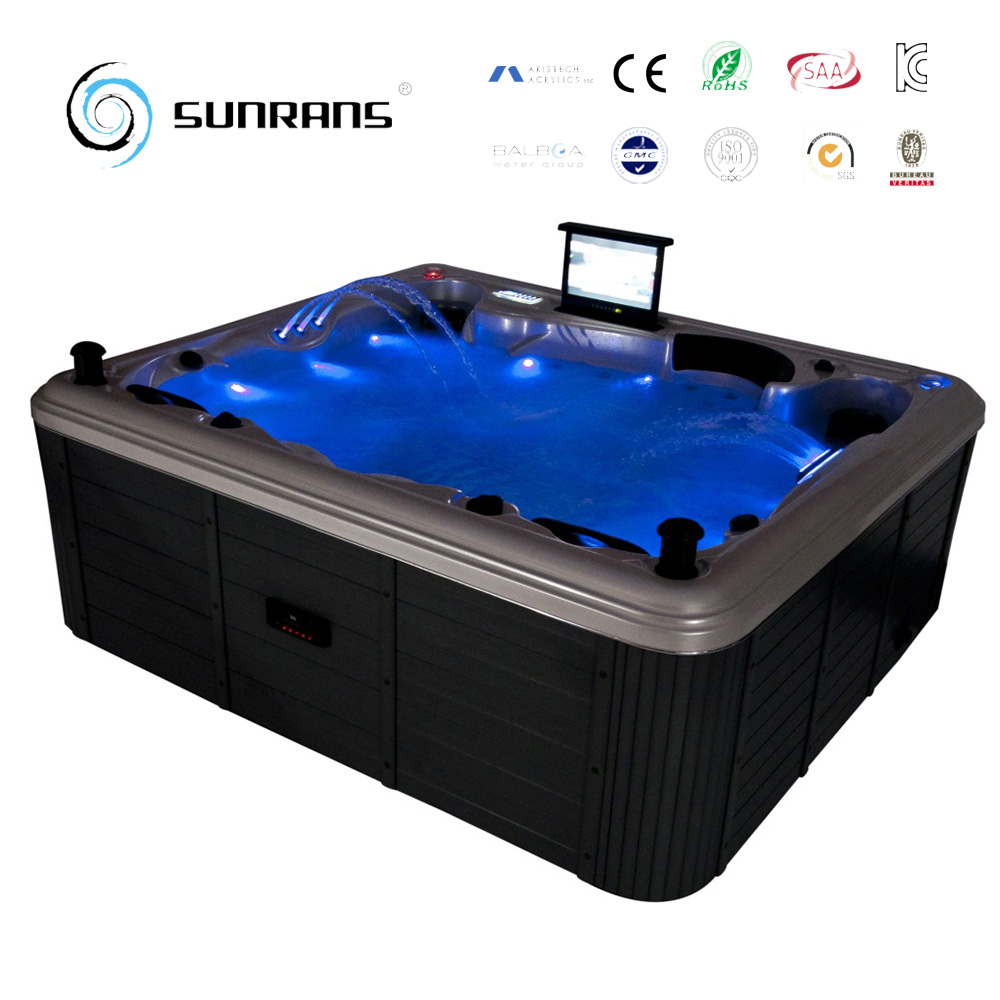 discount sunrans outdoor spa with europe america massage 5 person hot tub
