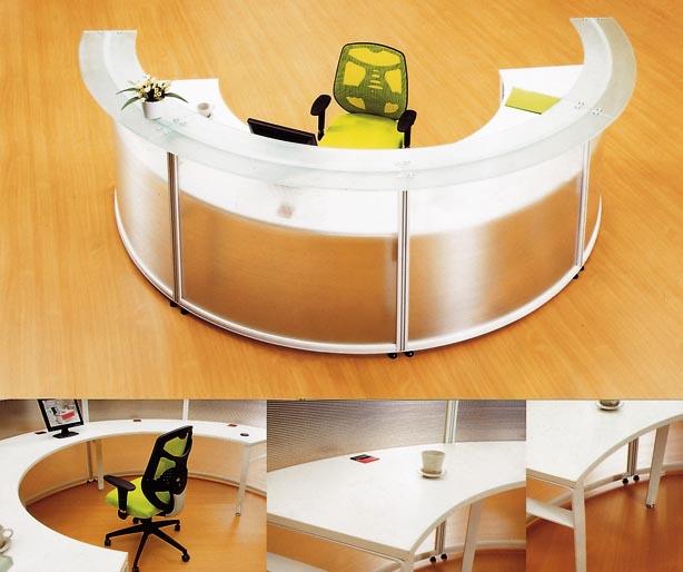 Semi Circle Office Desk Reception Of Half Circular Shape (CD 5512)