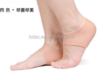 soft gel dry foot heel sock moisturizing plantar fasciitis sleeve