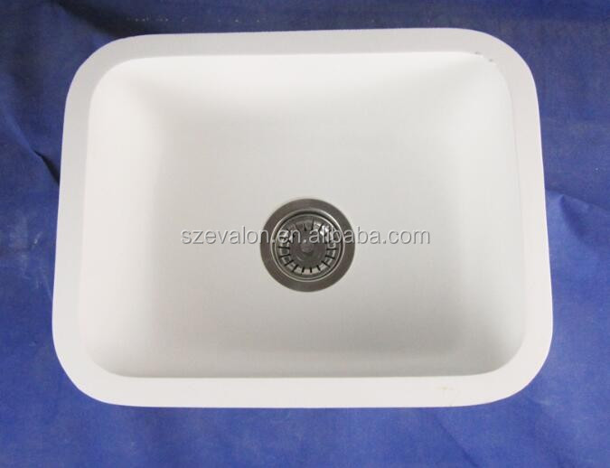 Irregular Shaped Polished Acrylic Solid Surface Kitchen Sinks,Deep ...