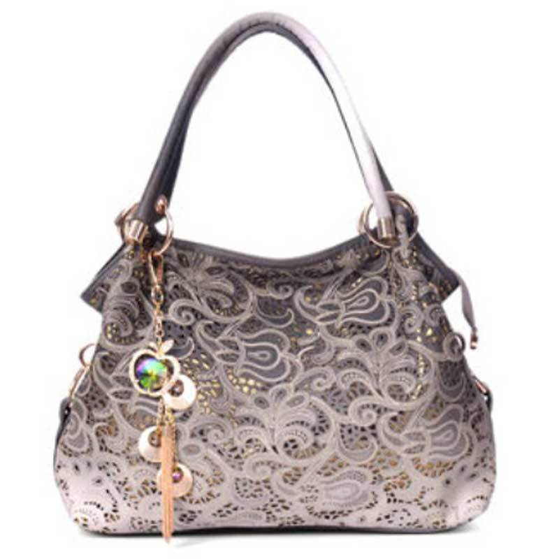 64f715428a88 Get Quotations · 2015 new cargo large hollow carved Vintage fashion Floral  women handbags shoulder bags portable female wave