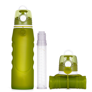 Fast Delivery High-Capacity 1000 Ml BPA Free Silicone Rubber Filter Water Bottle