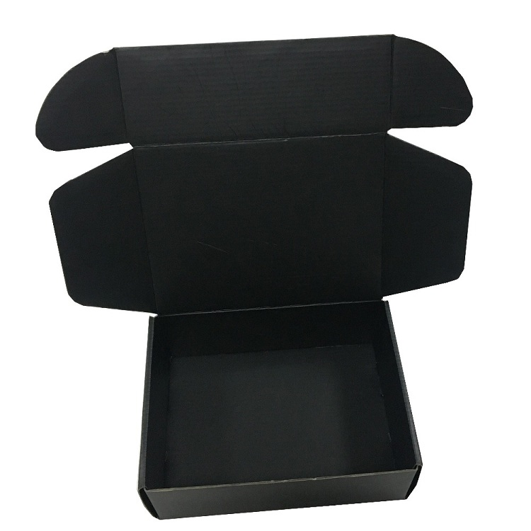Customized Recycled Matte Black Printing Corrugated Cardboard Carton Mailer Shipping Mail Box