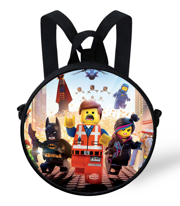 84c432a3bf13 Get Quotations · Cartoon baby kindergarten Bags round backpack kids school  bags for girls bags children Batman ninjago toddler