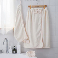 China wholesale soft best quality beautiful coral bath towel bath skirt