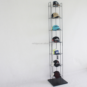 baseball cap display rack and shelf/hat stand display for retail store/floor hat display stand