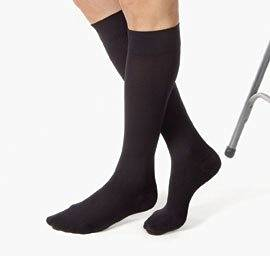 Jobst Relief Compression Thigh High Stockings, 30-40mmHg, Black, Medium, 1 Pair