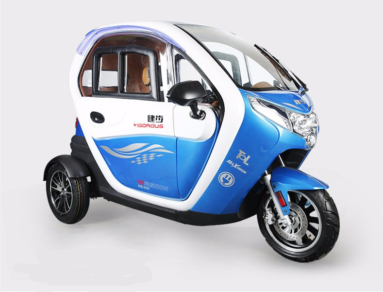Ce Certification 60v 1200w Full Closed Electric Tricycle