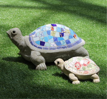 Ceramic Mosaic Animals Garden Decoration Lovely Turtle Shape Outdoor Ornaments Bf01 P1025