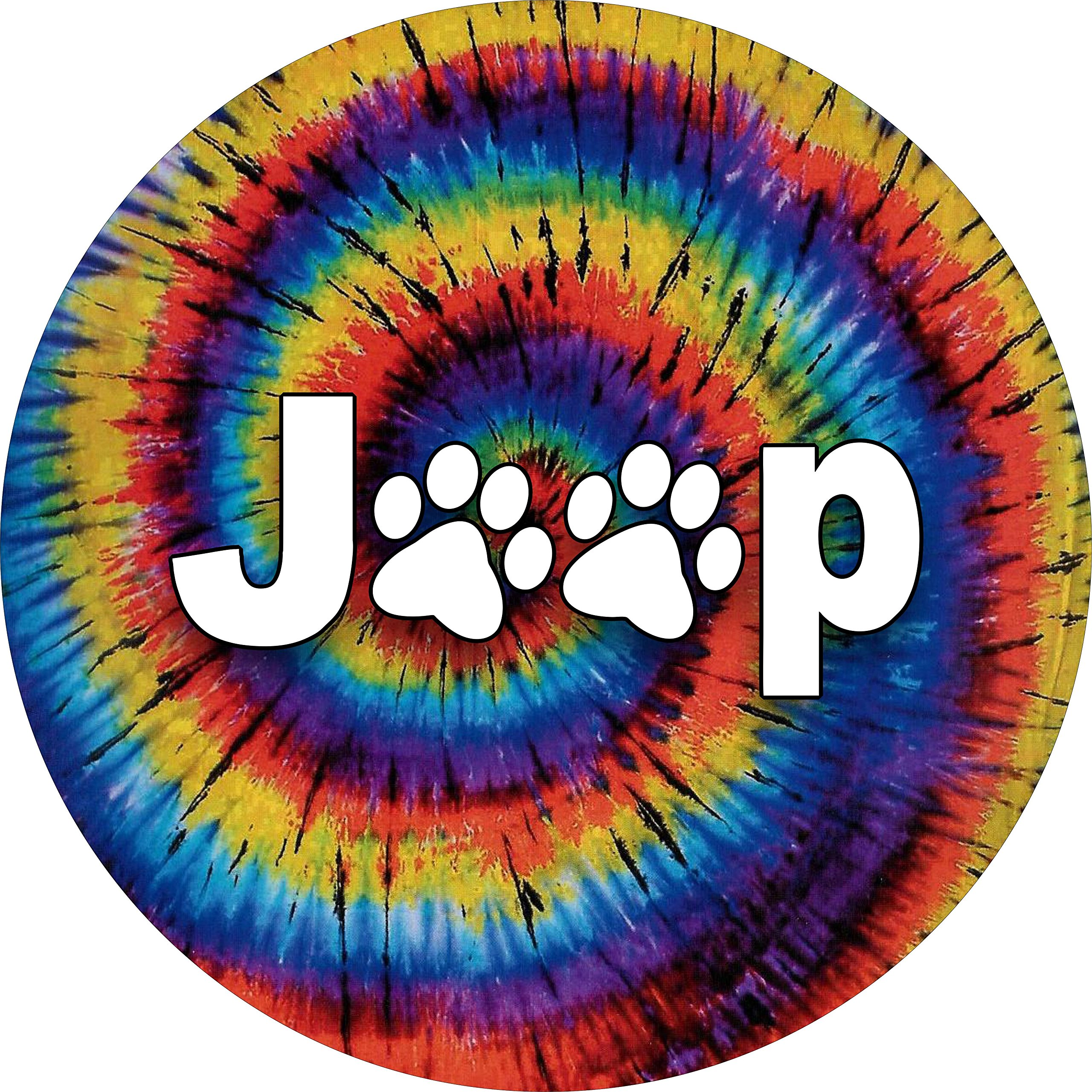 Jeep Paws TIE DYE Spare Tire Cover SELECT PREMIUM SHIPPING(all sizes available)