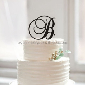 acrylic monogram b cake topper personalized letter b cake topper for kids birthday and wedding gift