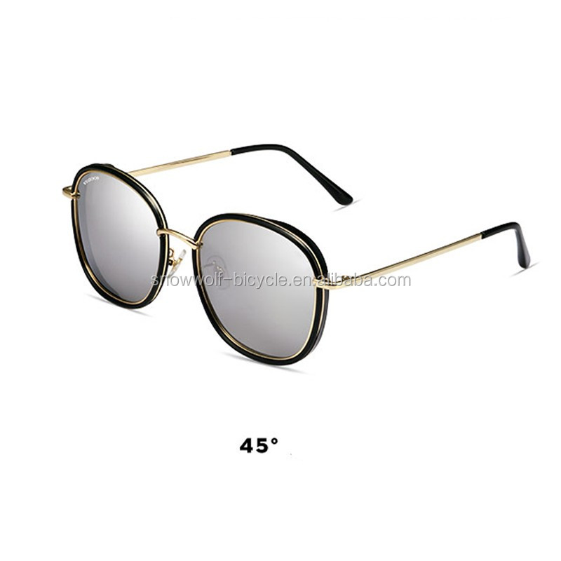 Vegoos Vintage Women Polarized Sunglasses Brand Designer Retro Round Sun Glasses