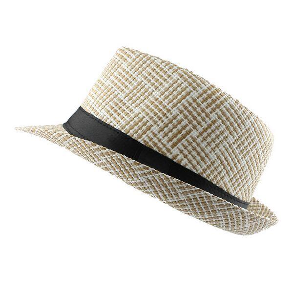 77a0f2c46fd6c walmart summer hat Casual Panama Men Straw hat Beach Fashion Hat For Women