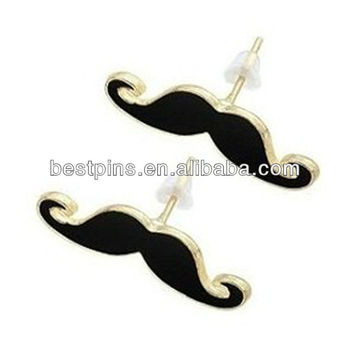 Funny Black Mr  Moustache Lapel Pins For Nirvana Funs - Buy Mr  Moustache  Craft Gift Souvenirs,Classic Black Nirvana Mr  Moustache Lapel Pins,Black