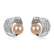 2015 Fashion Austria black pearl earrings boucle d'oreille statement earrings for women