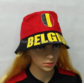 Belgium football fan bucket cap belgian fisherman hat for WM 2018 year 7c06a8cc4f66