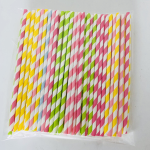 Wholesale Straws Paper Food Grade Echo Friendly Stripe Paper Straws