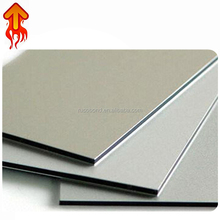 China leading home decoration silver color fire resistant 3mm acm construction material aluminum composite sheets cladding