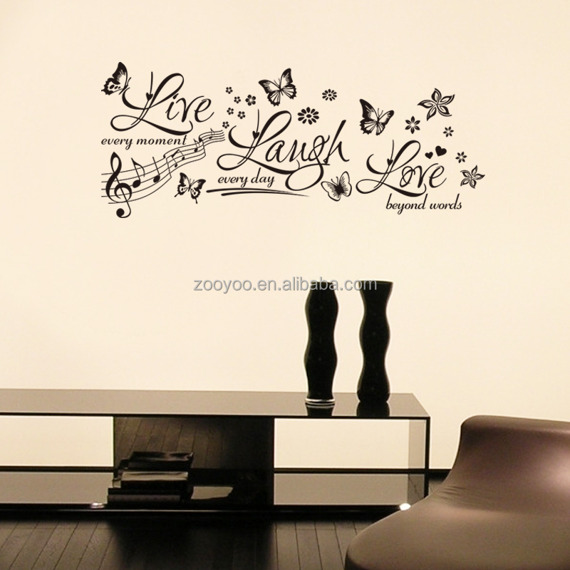 zooyoo8285vinyl Removable music designs wall decal home decor custom decals  sticker flappy butterfly wall sticker. Wholesale zooyoo8285vinyl Removable music designs wall decal home