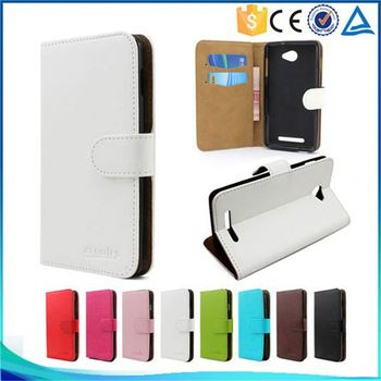 Wholesale PU Leather Credit Card Holder Flip Cover Case For Lenovo A7700