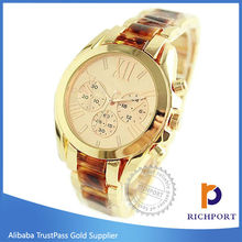 New product Custom Design Two Tone Silver Gold Watch, Current Metal Watch