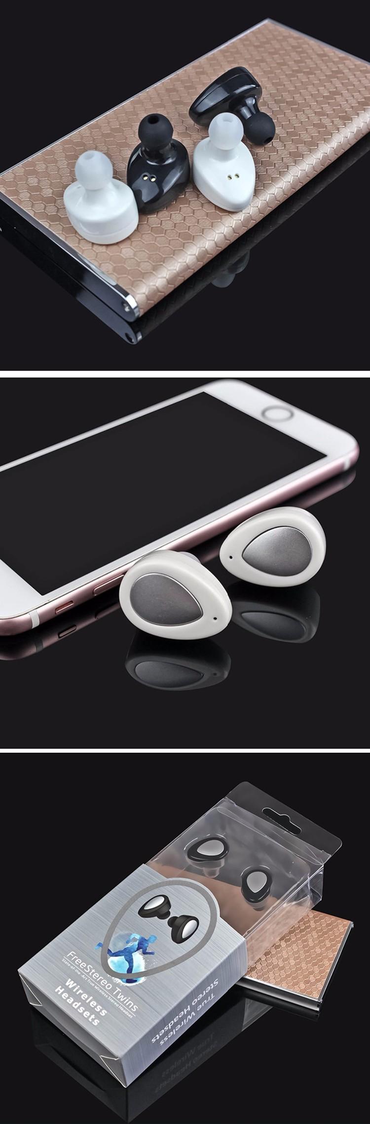 Mini TWS K2 Twins Wireless Stereo Headset In-Ear Bluetooth Earphone