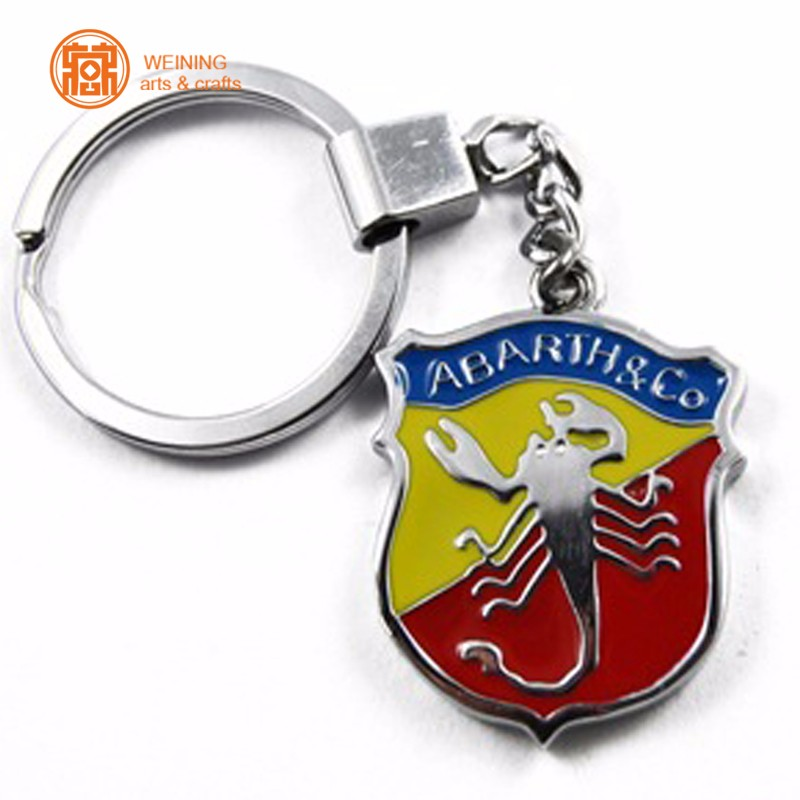 Logo Customized Metal Trolley Coin Key Chain