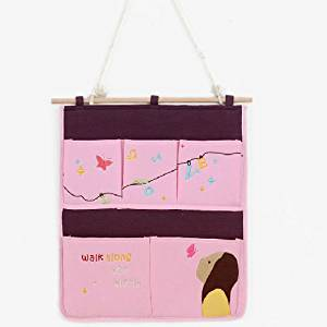 Lovely Wall-mounted Storage Bag, Multi-fonction, Gift-Idea-Pink