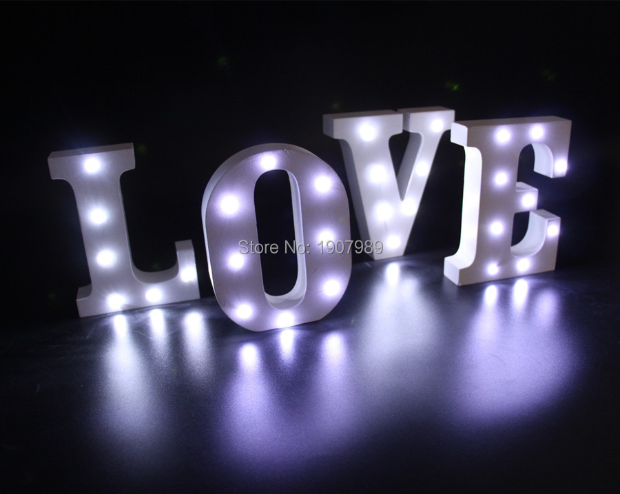 16cm 62 White Wooden Led Lighted Marquee Letters Sign Alphabet Christmas Lights Indoor Wall Deration Wood Letter Light