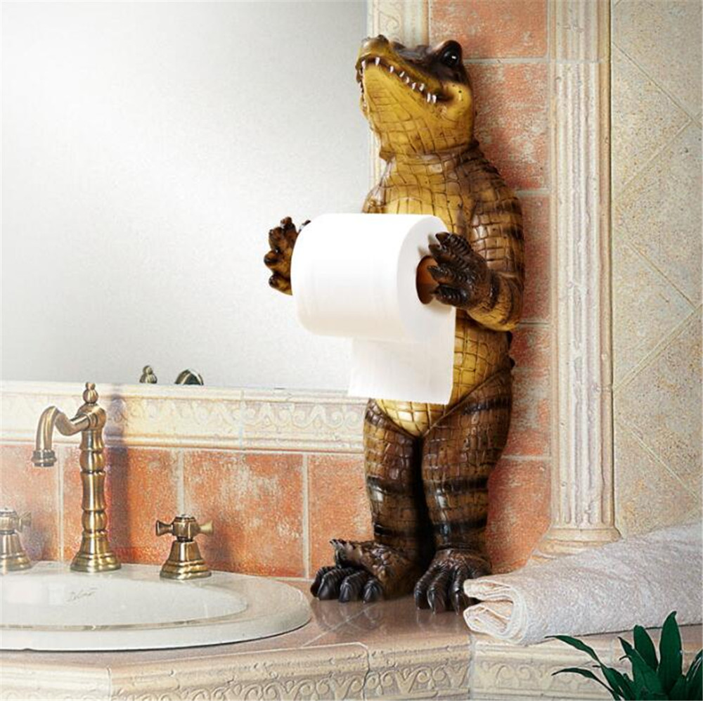New Creative Resin Cute Upright Bears And Crocodile Hole Free Unique Toilet Paper Holder Novelty Toilet Paper Holders Bear Toilet Paper Holder Bear Holderholder Toilet Aliexpress