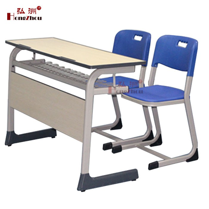 Plastic Double Student Desks And Chairs Cheap Wooden