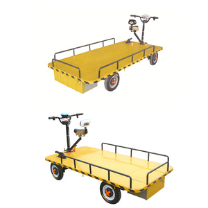 4 Wheel Platform Wagon Cart Beach Trolley Garden Electric Cart For 800-1000kg