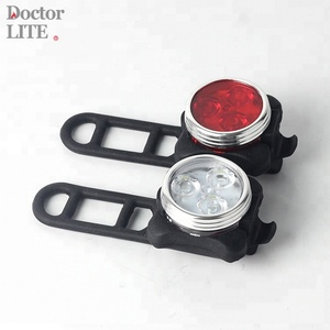 USB Rechargeable Bike Light Set IP65 Waterproof Bike Front and Rear Lights Back Safety light Bicycle Light Set