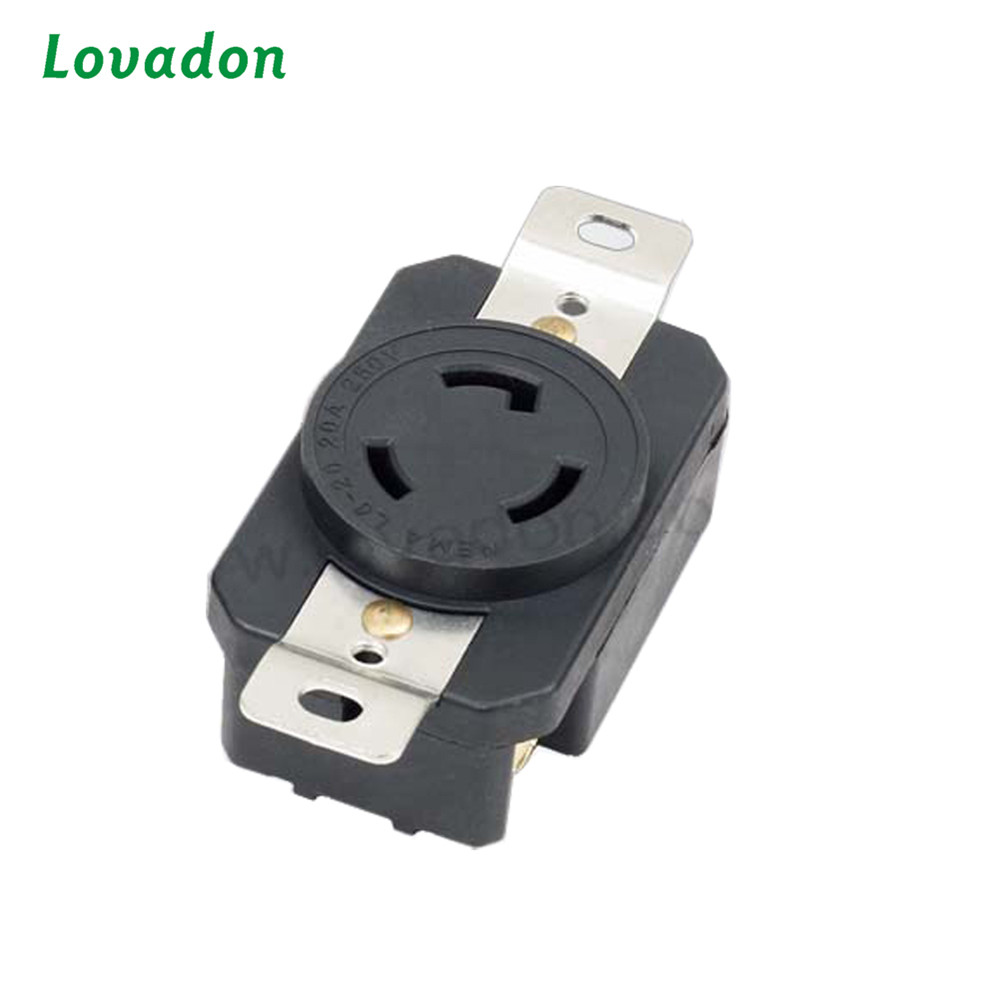 CB ROHS certification Electronic L6-20r Three-Hole American Industrial Outlet and Plug