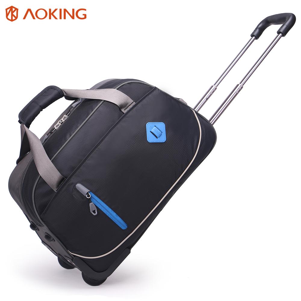 Hoge capaciteit rolling carry op trolley bagage waterdicht reisbagage zakken
