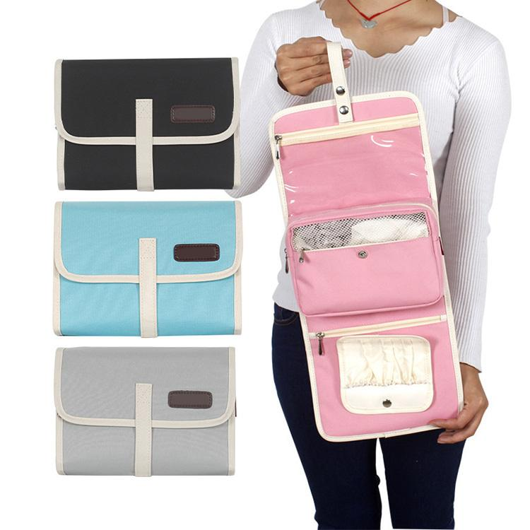 300D oxford hanging cosmetic bag bathroom storage travel toiletry bags