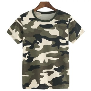 2019 Hot Sale Wholesales 100% Cotton O-Neck Short Sleeve Summer Training Mens Camo T-Shirt