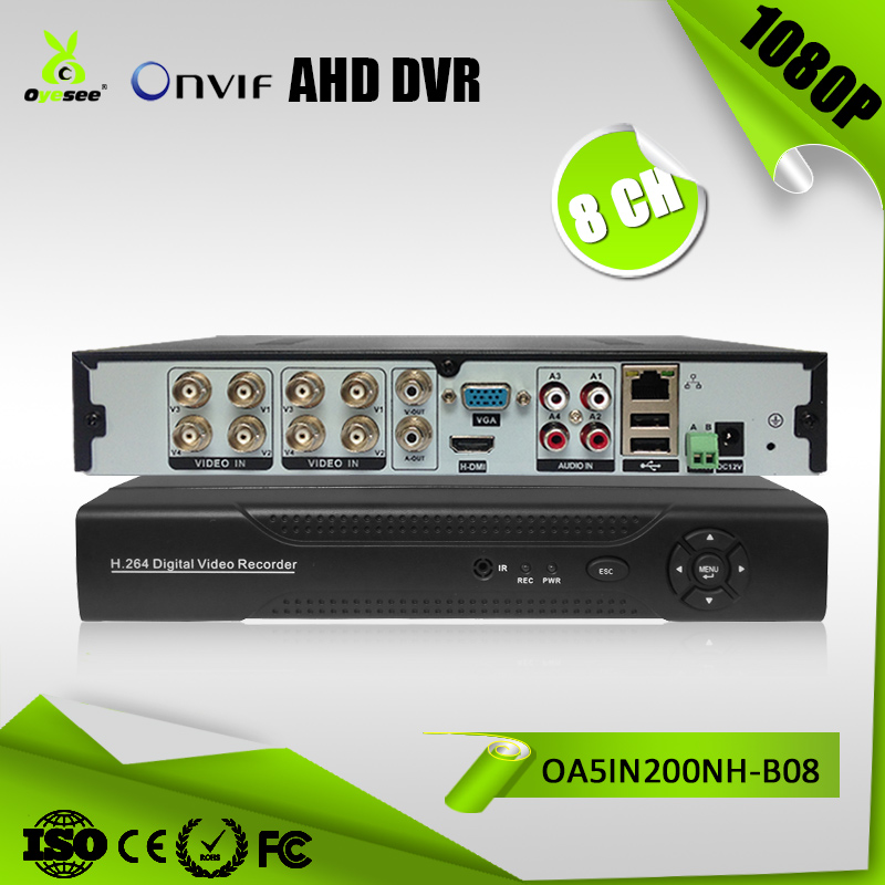 OA5IN200NH-B08 8CH Professionele downloaden dvr h.264 cms 960*1080 ONVIF Onder Netwerk Modus 5 in 1