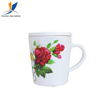 Melamine cup with lid custom printed plastic cup melamine drinking measuring