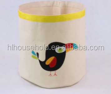 Popular Organic Cotton Fabric Toy Storage Bin
