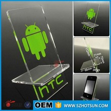2016 cheap acrylic display mobile phone stand for phone store