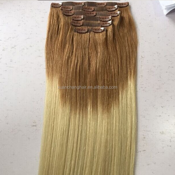 Balayage Color Seamless Clip In Hair Invisible Tape Hair Extensions